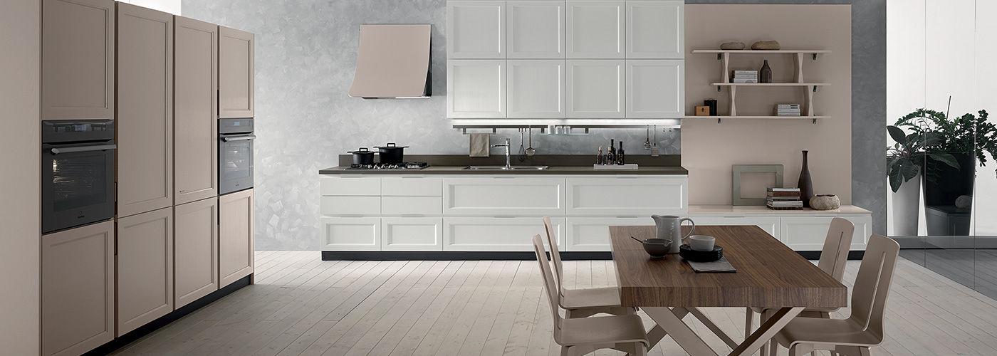 Cucina moderna / in legno / laccata / con maniglia integrata - FLY ...