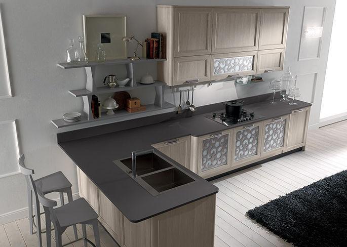 Cucina moderna / in legno / a L / laccata - FLY - NEW - Torchetti Cucine