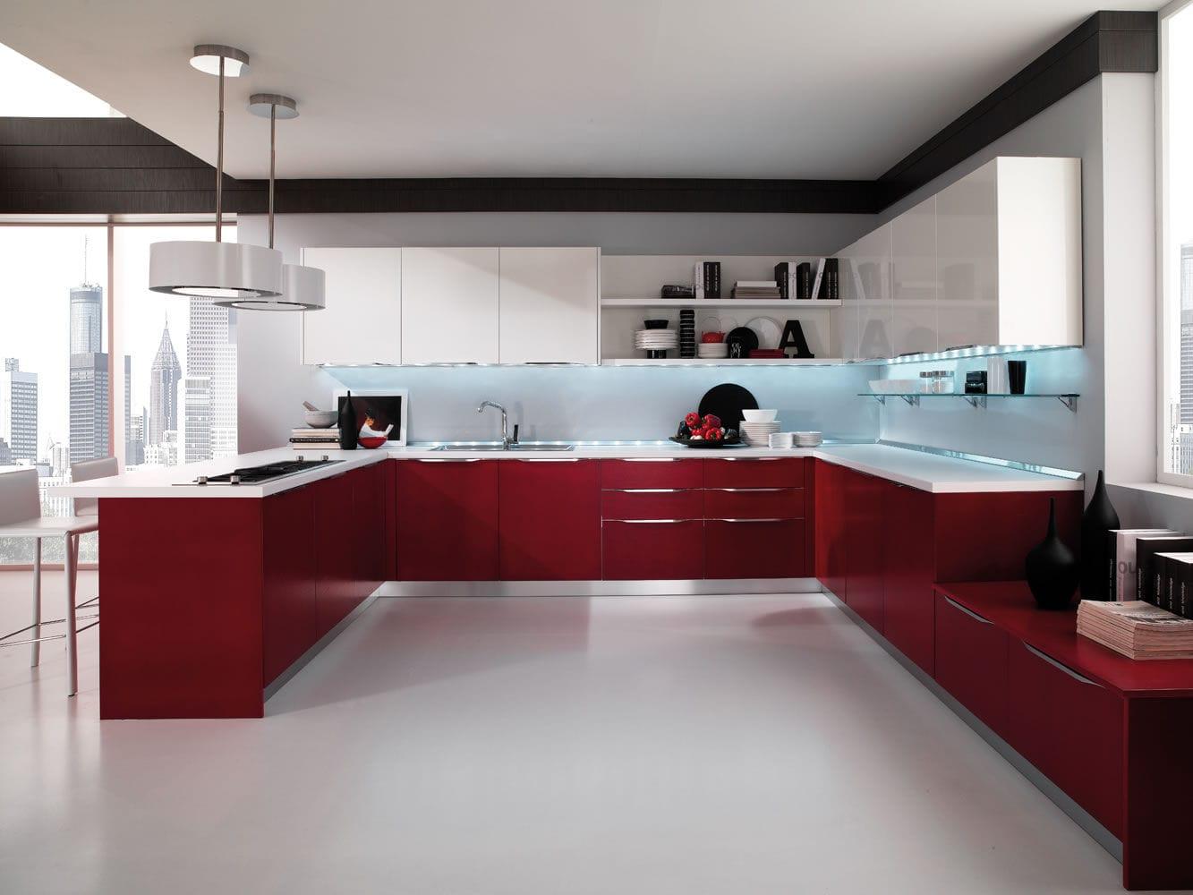 Cucina moderna / in legno / a U / laccata - AIRONE - Torchetti Cucine