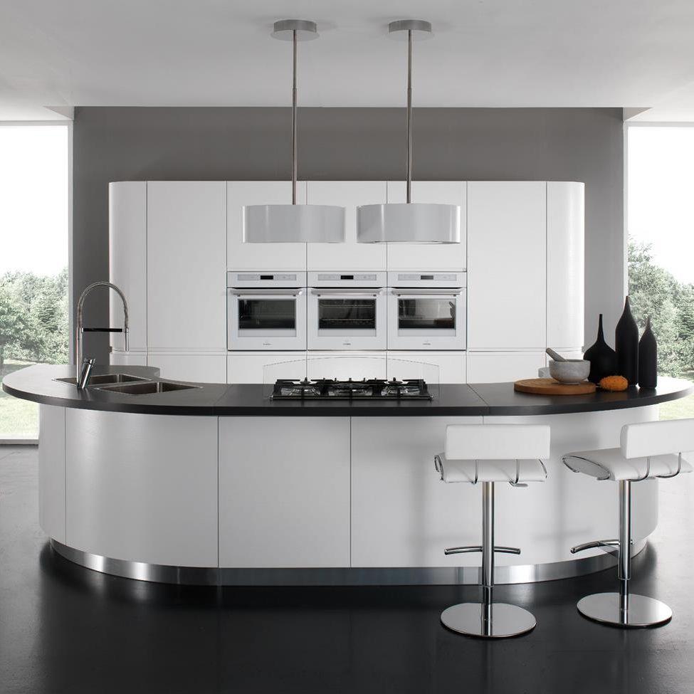 Cucina moderna / in laminato / tonda / laccata - SEVEN - Torchetti ...