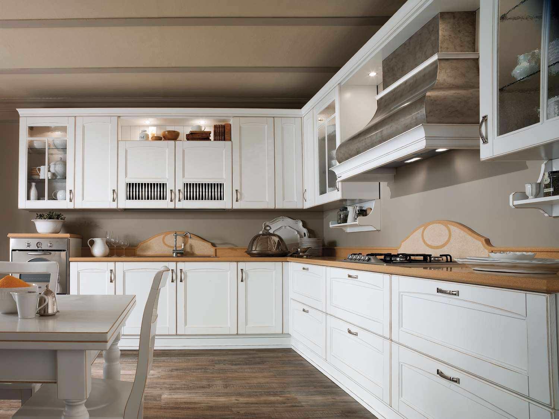Cucina classica / in legno / a L - VERONA - Torchetti Cucine
