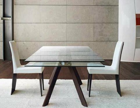 Tavolo moderno / in vetro / da interno / allungabile - LEM ...