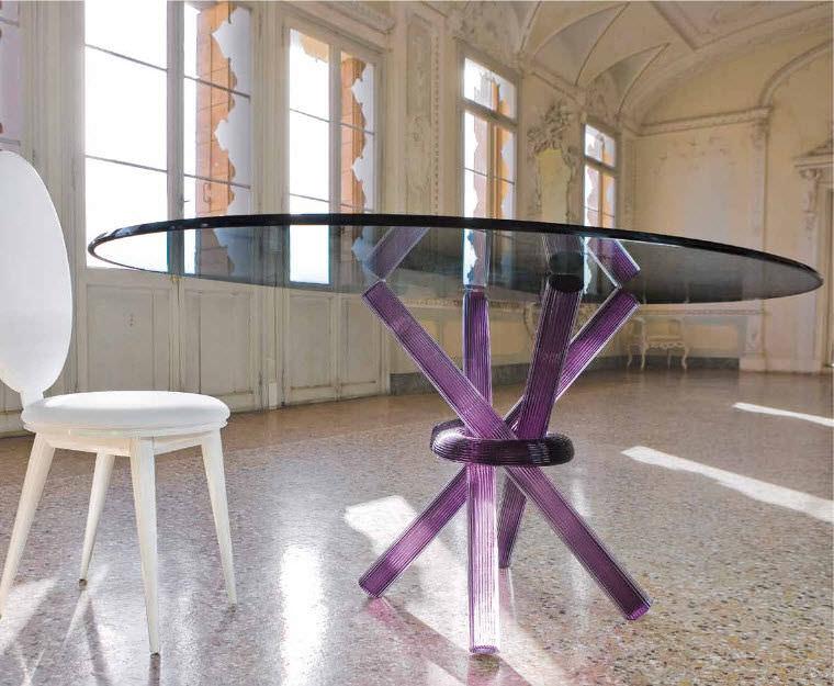 Tavolo da pranzo / da interno / moderno / in vetro   arlequin 72 ...