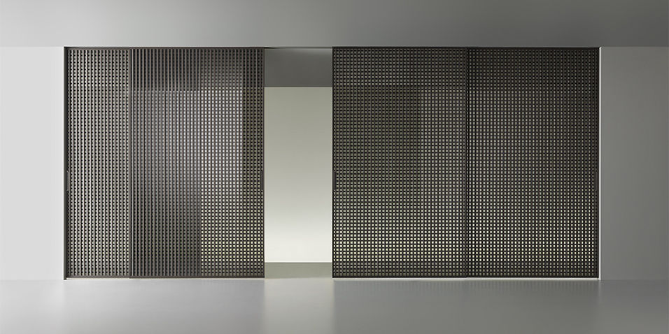 Porta da interni / scorrevole / in vetro / vetrata - DAIMON by ...