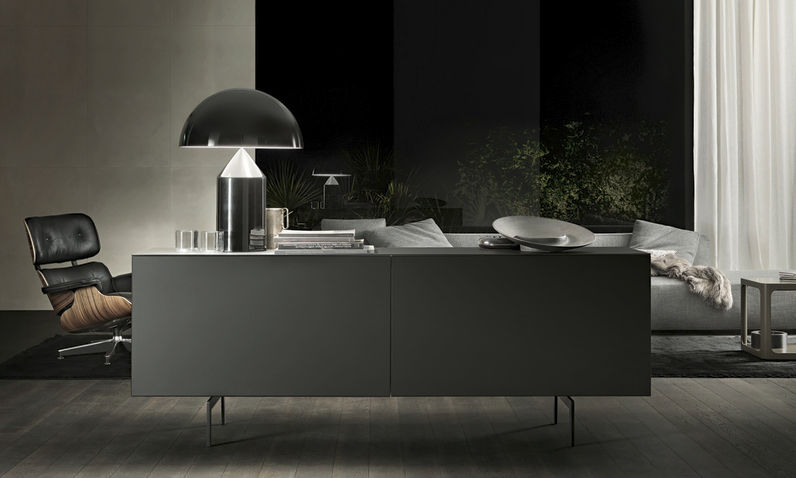 Credenza Moderna In Vetro : Credenza moderna in vetro laccato acciaio eileen by