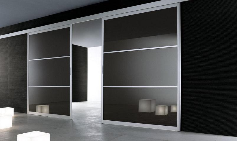 Porte Cabina Armadio Rimadesio : Porta da interni scorrevole in alluminio doppia siparium by