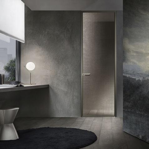 Porta da interni / battente / in alluminio / filomuro - ZEN by ...