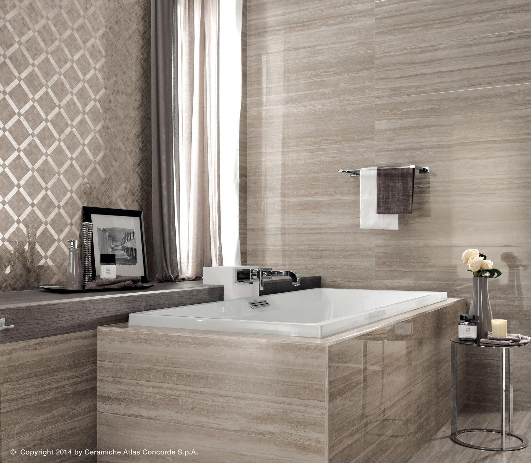 piastrella da bagno da pavimento in ceramica lucida marvel pro wall atlas concorde
