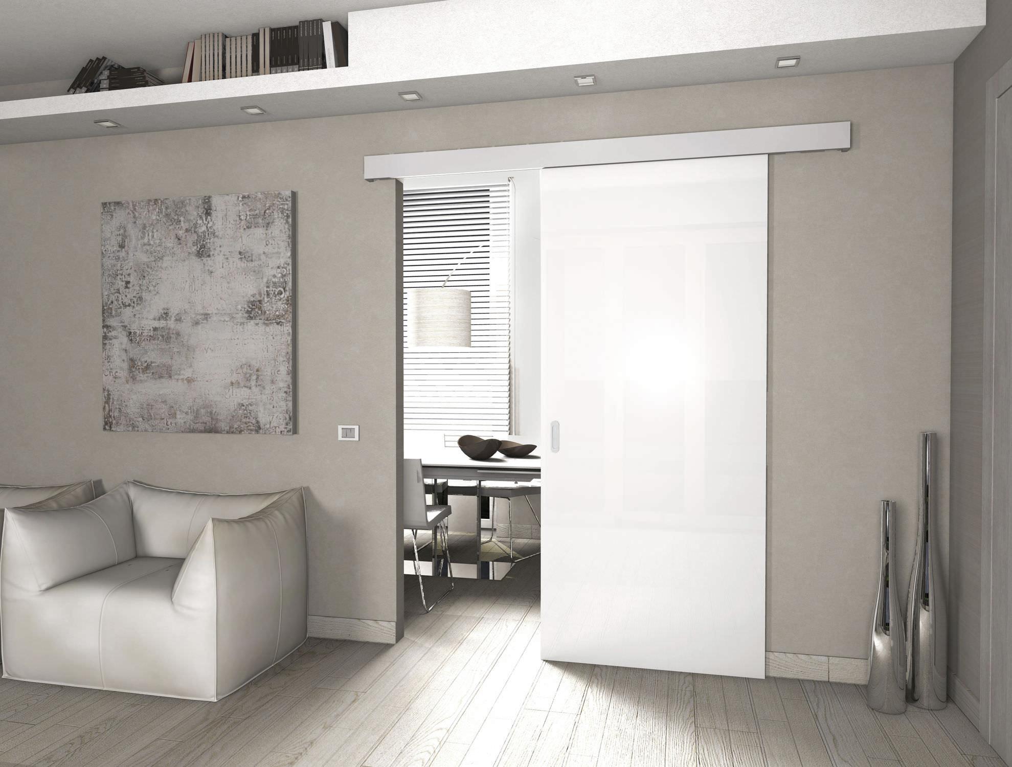 Controtelaio per porta scorrevole in vetro - LIBBRY - PROTEK