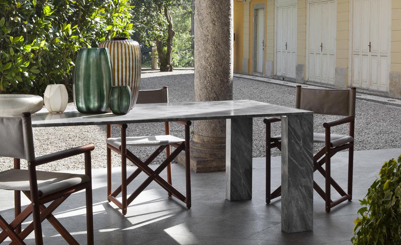 Tavoli In Marmo Da Giardino.Tavolo Moderno In Marmo Rettangolare Da Giardino Stone By
