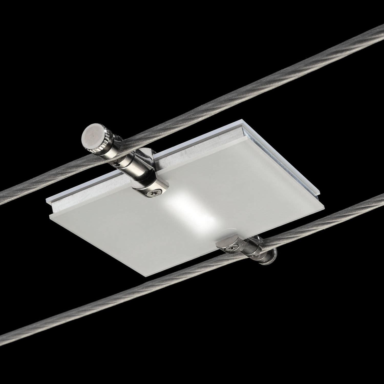 Illuminazione faretti a binario : Illuminazione su cavi led / rettangolare indoor a bassa ...