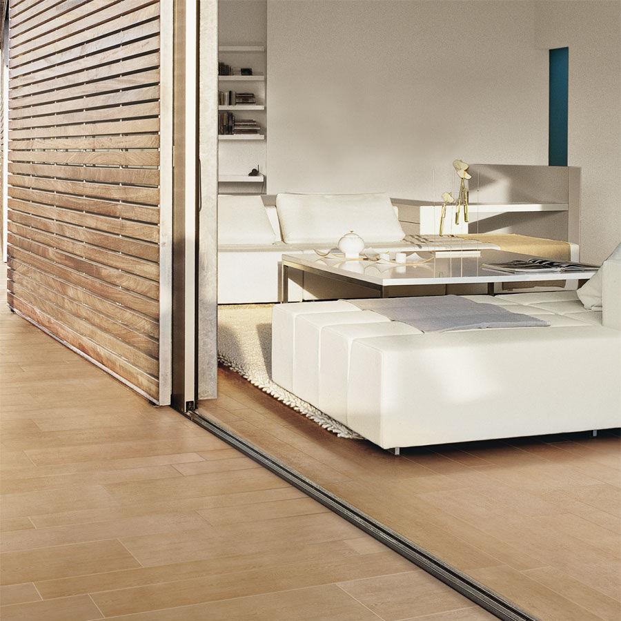 Piastrella a effetto legno / per pavimento / in gres porcellanato ...