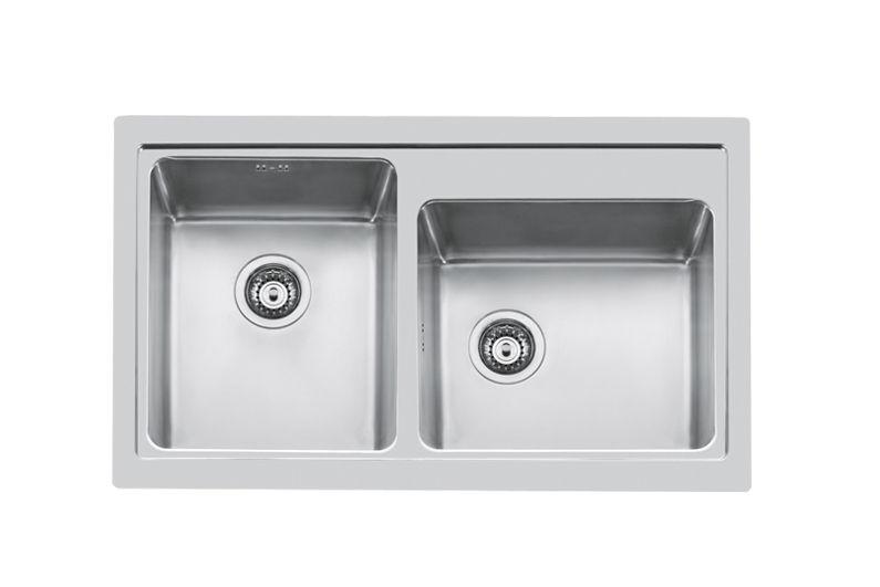Lavello a 2 vasche / in acciaio inox - S4000 86.2V.FT - 4385 050 ...