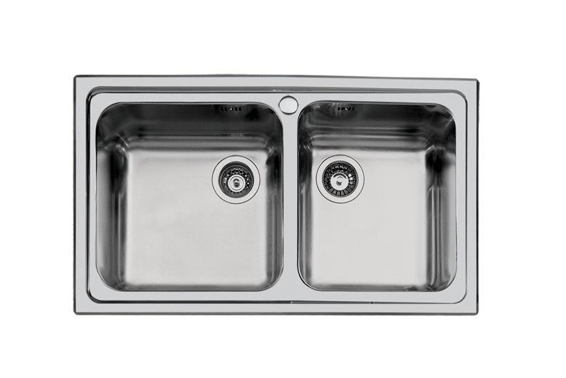 Lavello a 2 vasche / in acciaio inox - S3000 86.2V.FT - 1385 062 ...