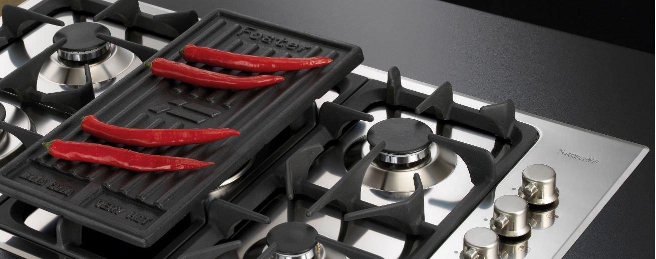 Piano cottura a gas / in ghisa / con grill - PROFESSIONALE.5F.SF ...