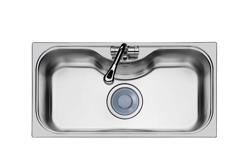 Lavello a 1 vasca / in acciaio inox - URAGANO.7\