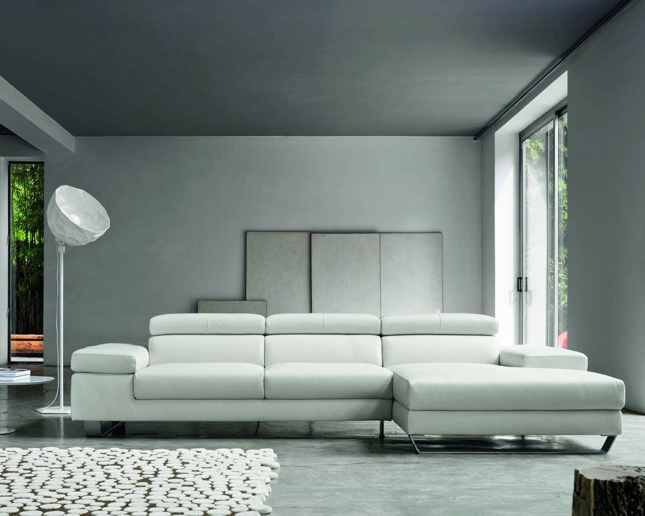 Divano modulare / moderno / in pelle / 3 posti - ALISON - Doimo Sofas