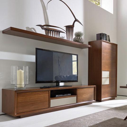 Parete attrezzata TV moderno / in noce - LEONARDO - SELVA