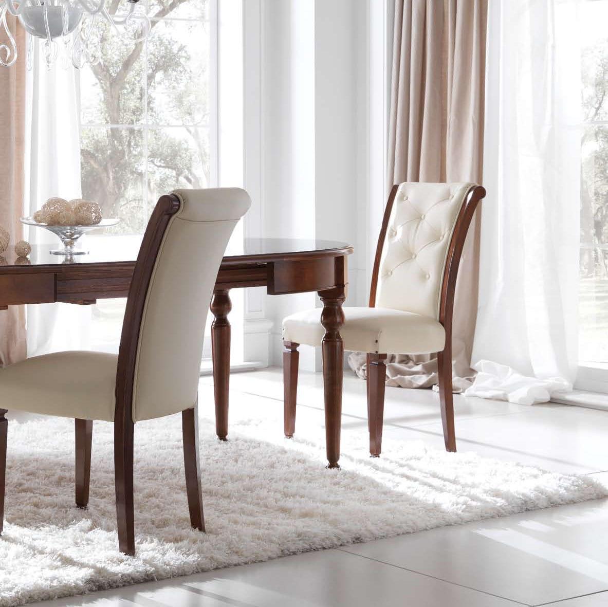Sedia classica / con braccioli / in tessuto / in legno - MARGOT ...