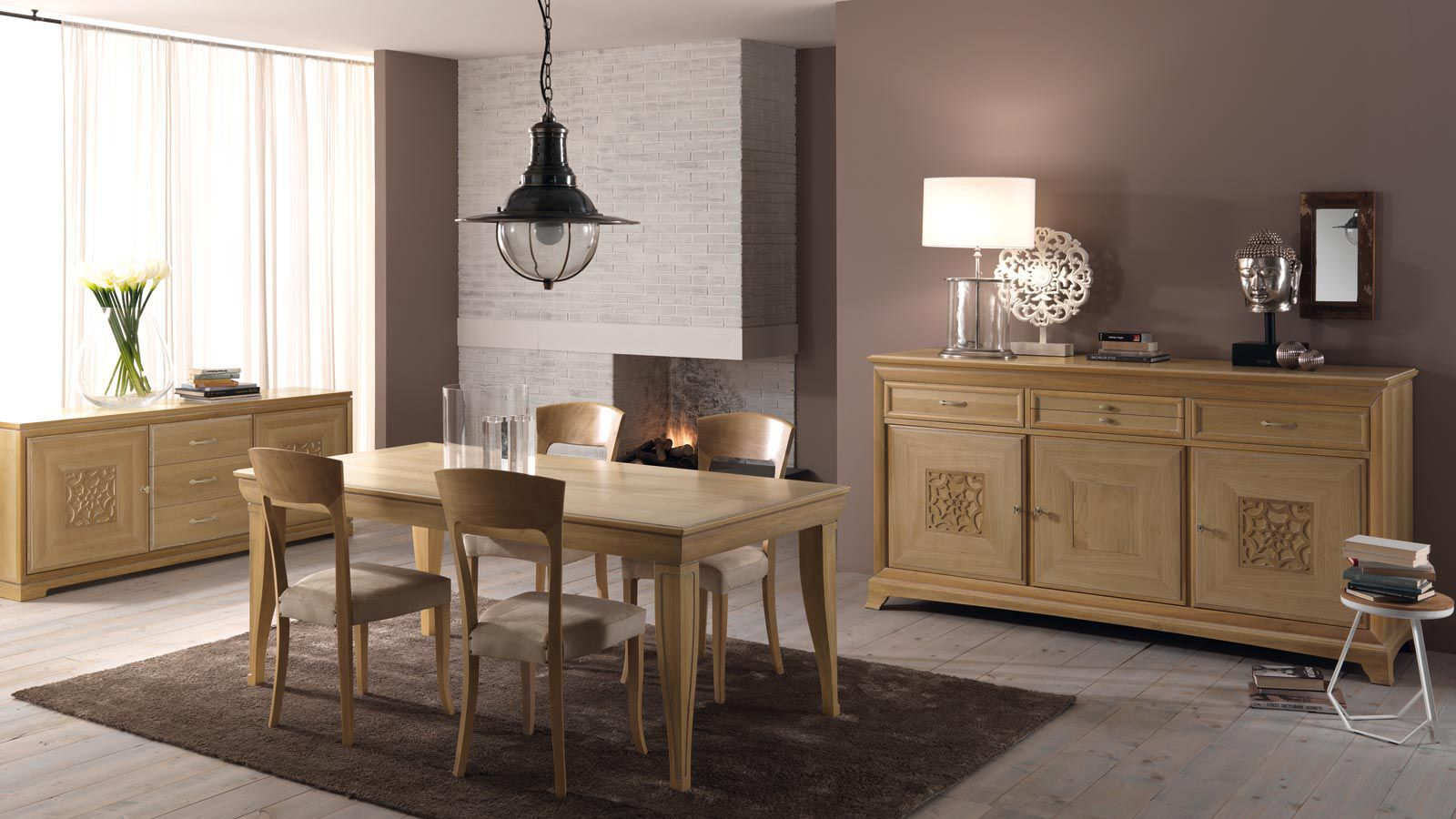 Tavoli Da Pranzo Classici: Sala da pranzo classica in legno ...