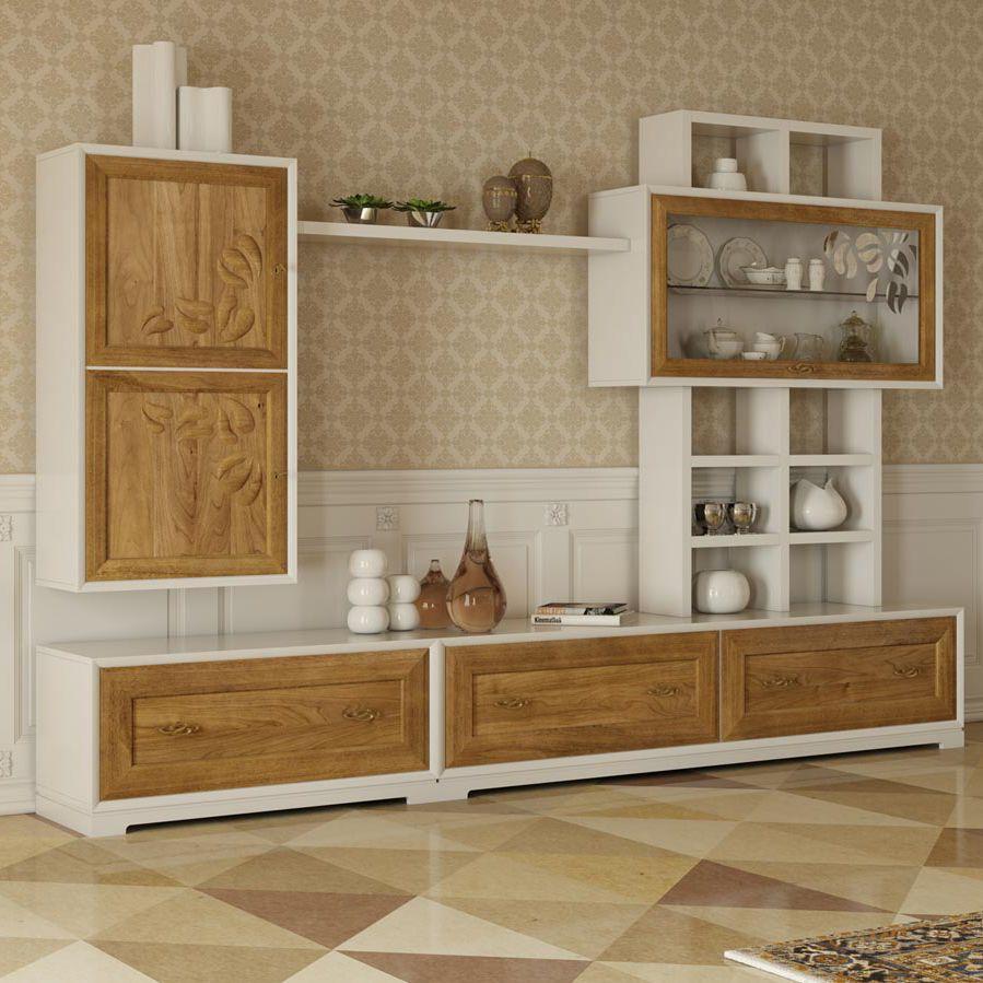Parete attrezzata per soggiorno moderna / in legno - LA DOLCE VITA ...