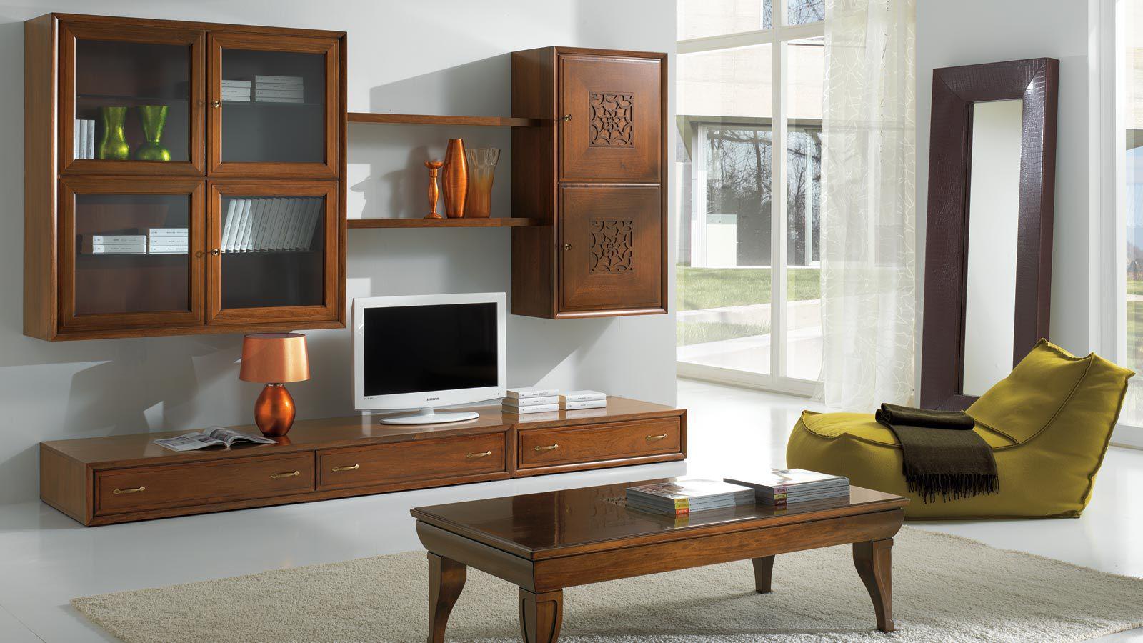 Parete attrezzata TV classico / in legno laccato - FOUR SEASONS ...