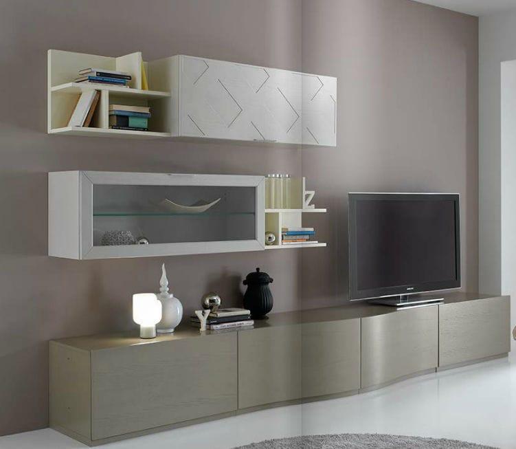 Parete attrezzata TV moderno / in legno / in legno laccato - KUBIK ...