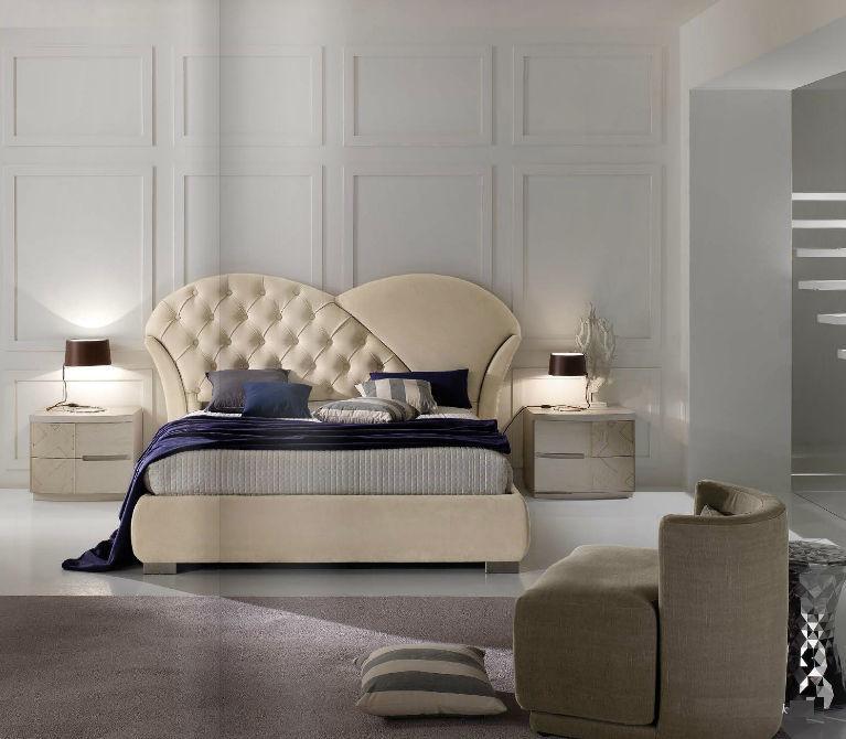 Letto moderno con testiera imbottita imbottito kubik stilema with camera da letto stilema prezzi