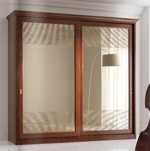 Armadio classico / in legno / in legno laccato / a porte scorrevoli ...
