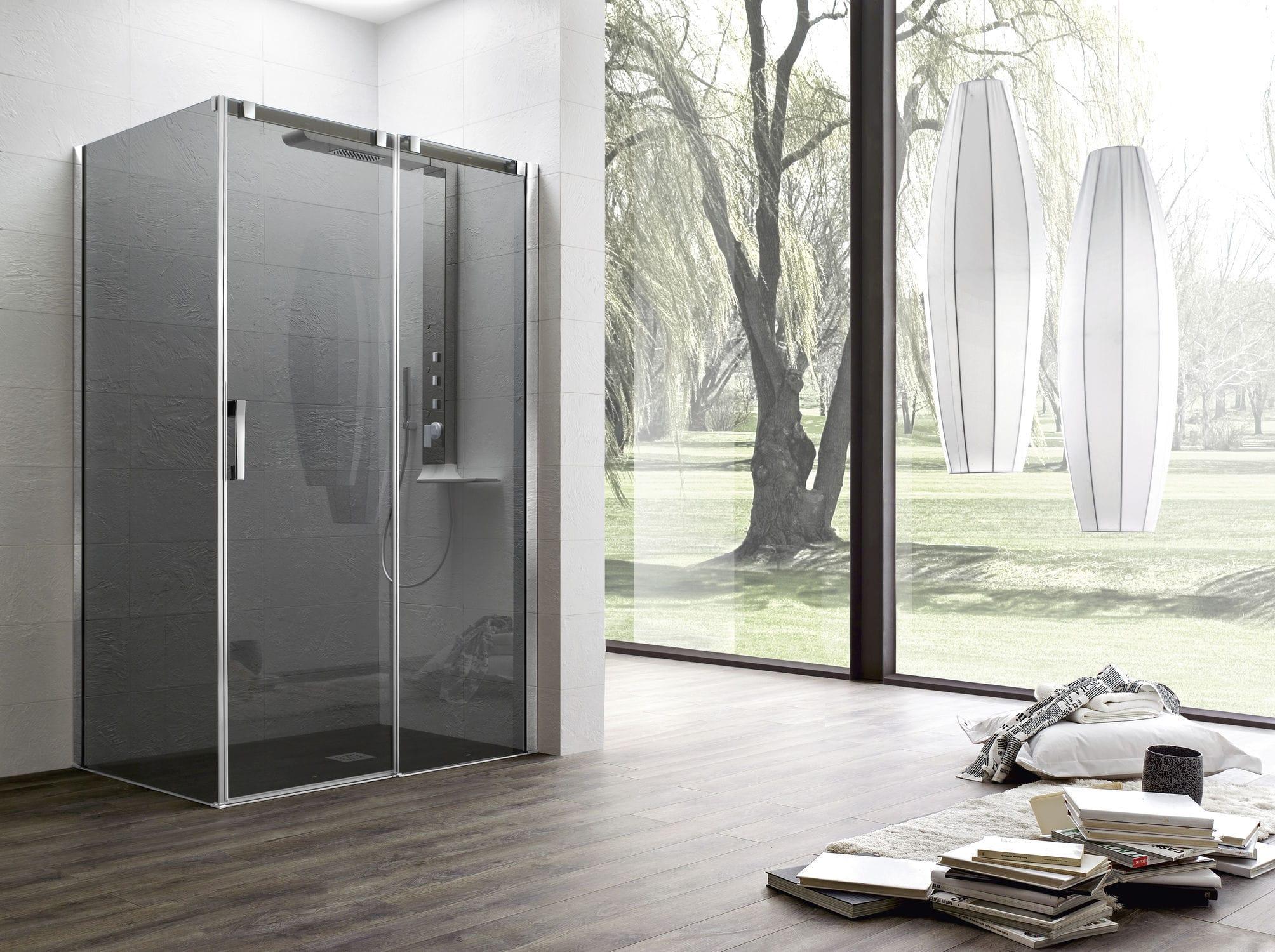 parete doccia scorrevole / d'angolo - otto - arblu - video - Arblu Arredo Bagno