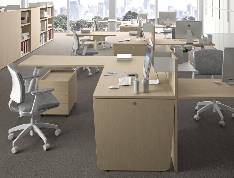 Mobili Per Ufficio Della Rovere : Cassettiera per ufficio in metallo in legno cassetti