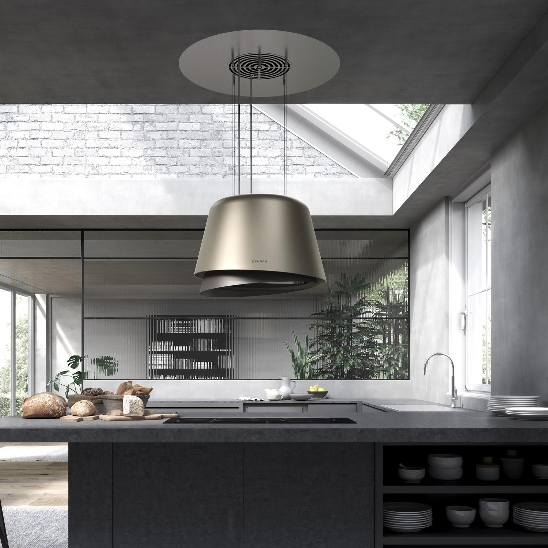 Cappa a isola / design originale / con illuminazione integrata ...
