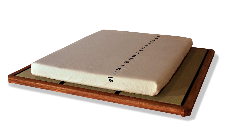 Letto tatami matrimoniale moderno in legno dojo cinius