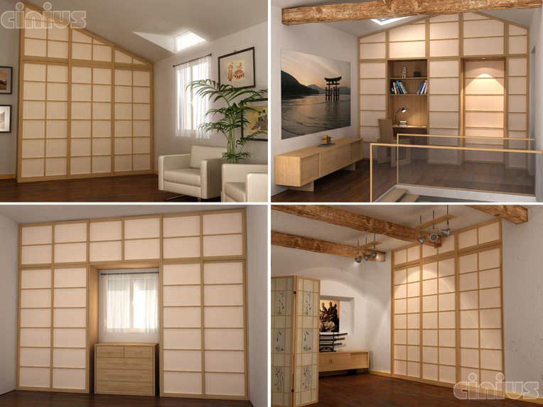 Molto Parete scorrevole / in legno / ad uso professionale - PARETE SHOJI  KT72