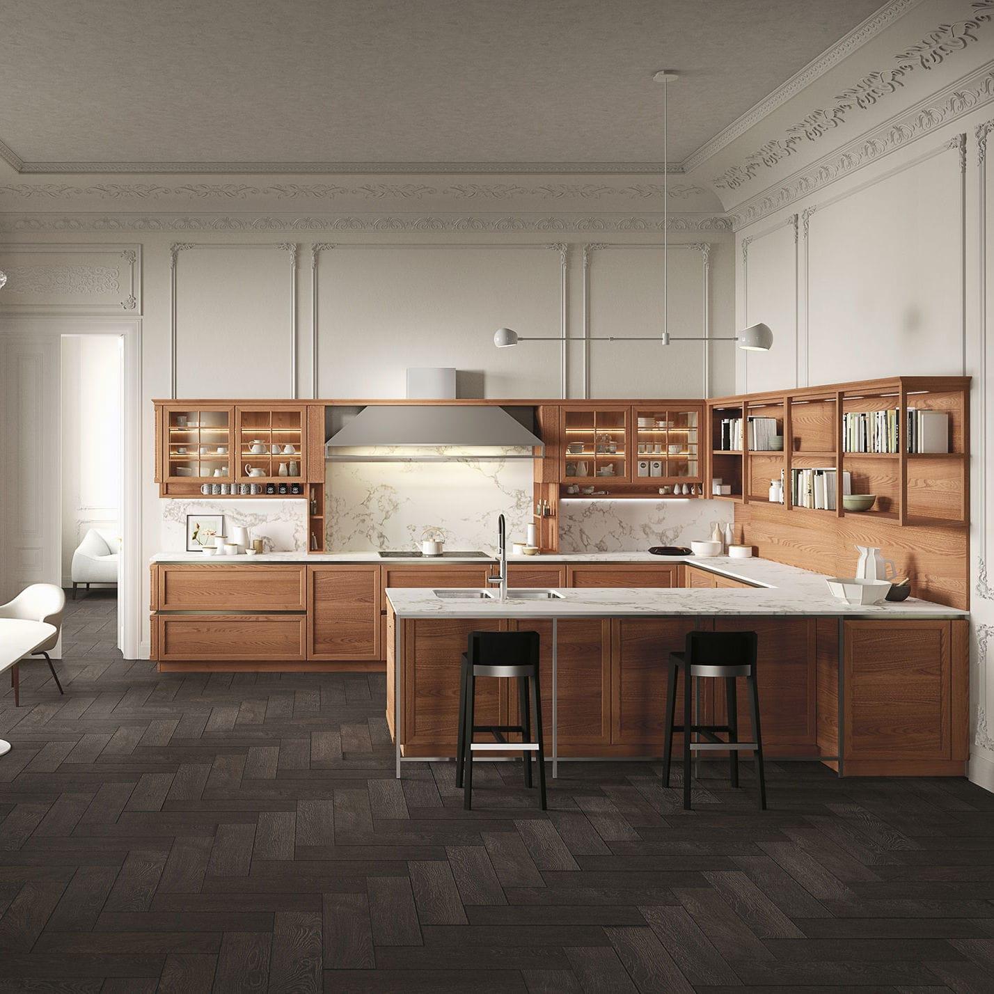 Cucina classica / in olmo / modulare / con isola - HERITAGE by Iosa ...