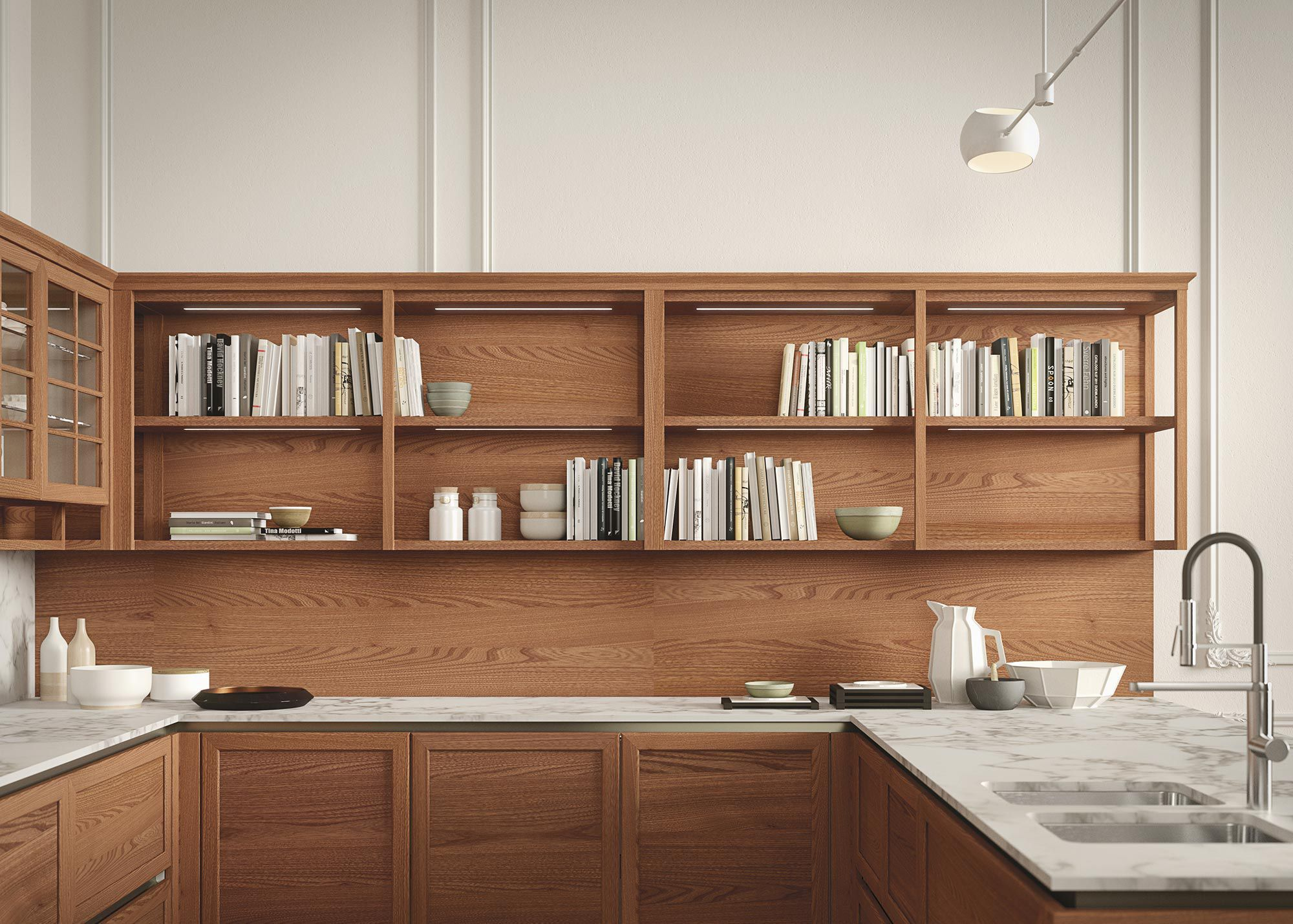 Cucina classica / in olmo / modulare / con isola - HERITAGE by ...