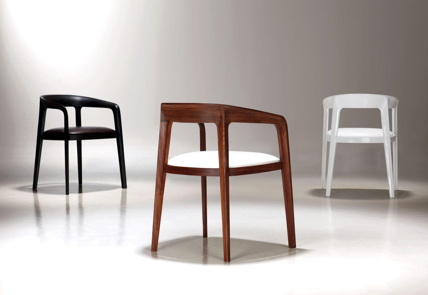 Sedie In Legno Con Braccioli : Sedia visitatore moderna con braccioli imbottita in legno