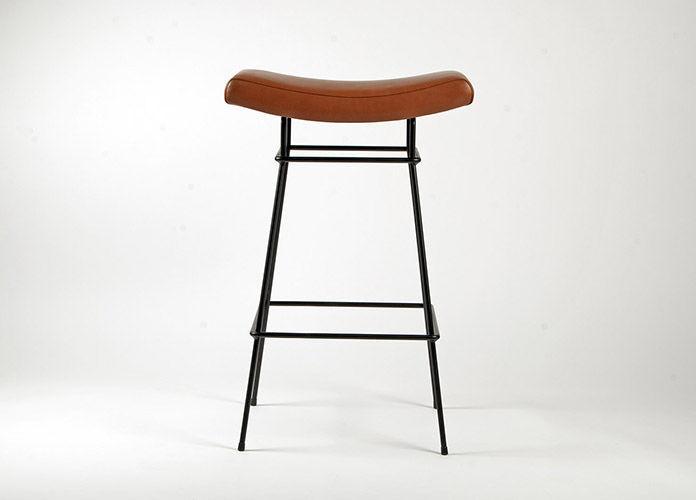 Sgabello da bar moderno in pelle in metallo contract bienal
