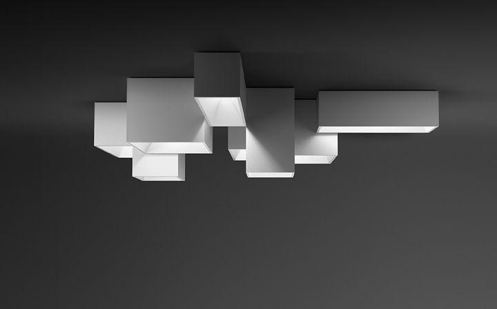Plafoniere Led Rettangolare : Plafoniera moderna rettangolare in metacrilato led link xxl