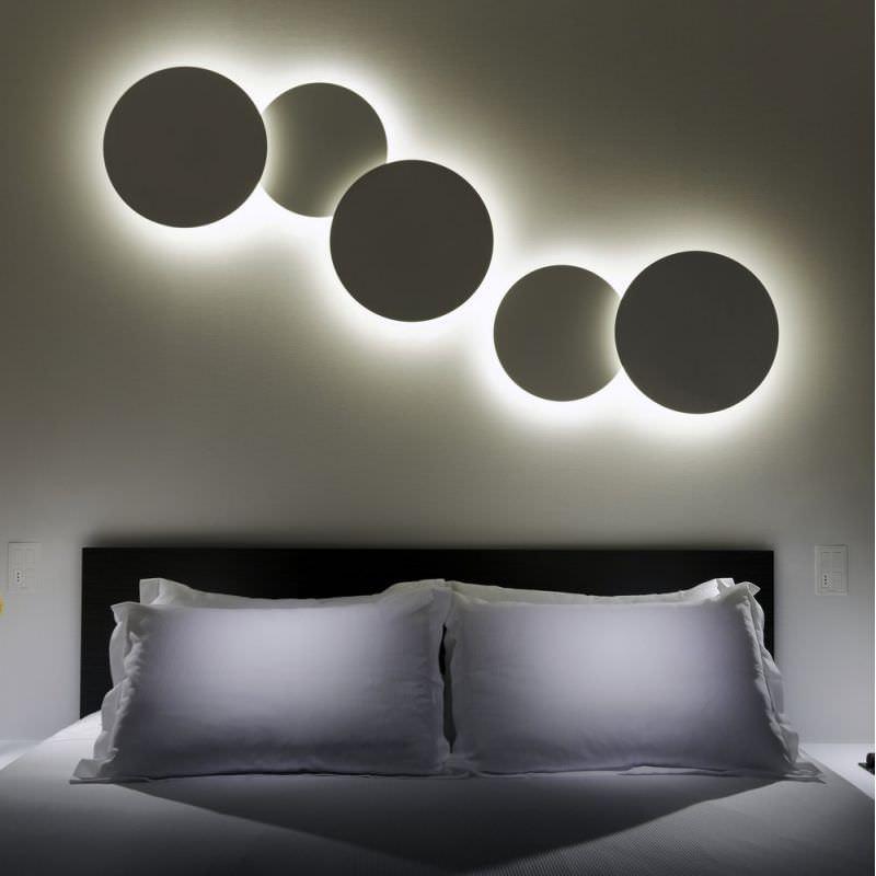 Applique moderna / in metacrilato / in ABS / a lampada fluorescente ...