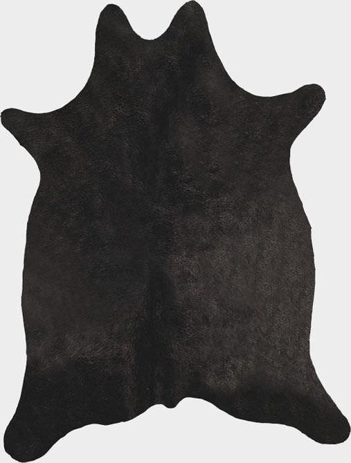 Tappeto moderno / a tinta unita / in pelle di mucca / rettangolare ...
