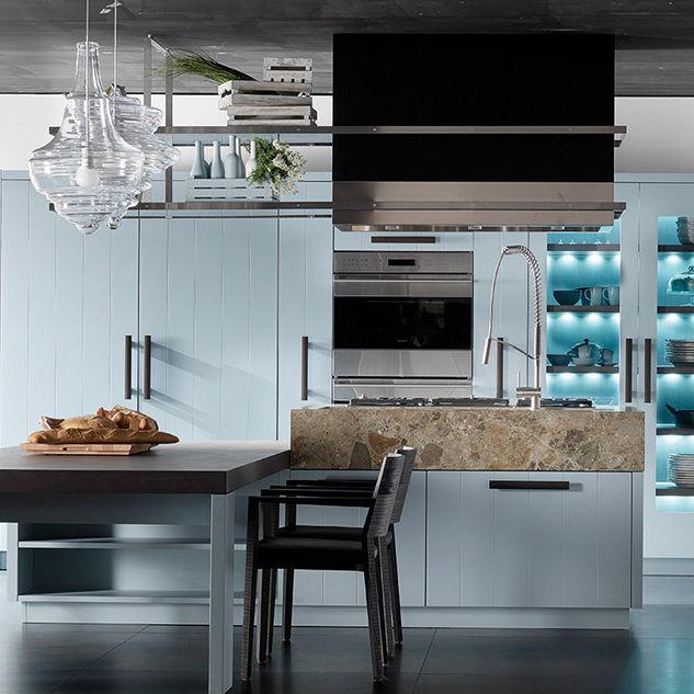 Cucina moderna / in legno / con isola / laccata - NANTIA CIELO ...
