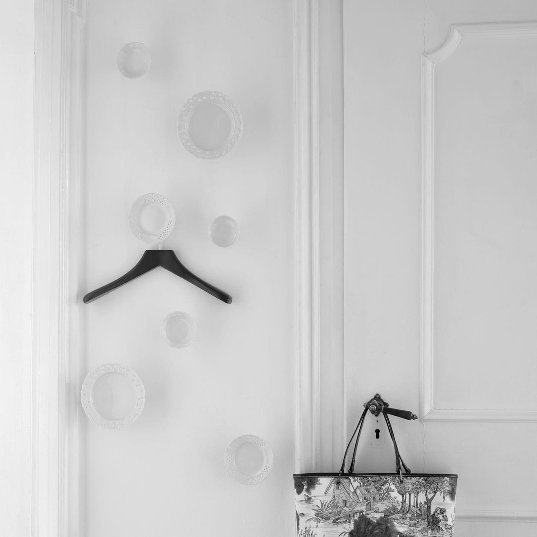 Appendiabiti da parete moderno / in porcellana / in acciaio ...