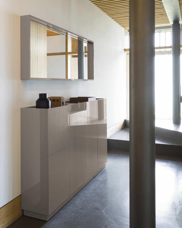 Mobile Da Ingresso Moderno A Muro In Legno Massiccio Con