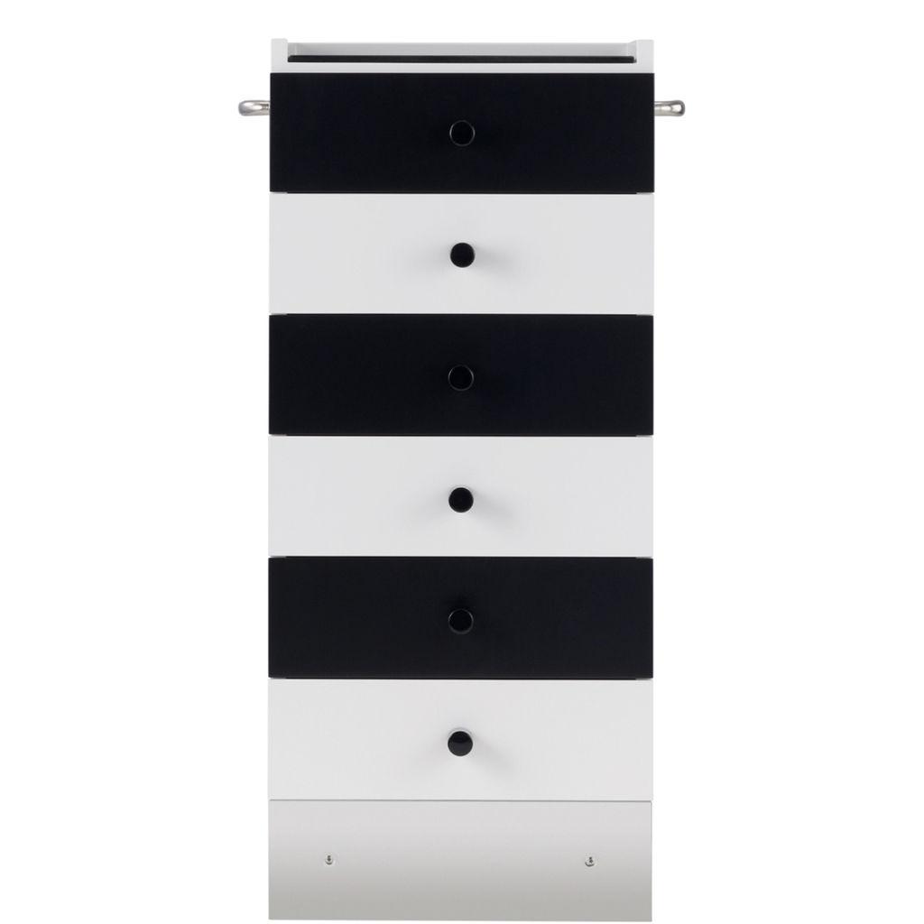 cassettiera design bauhaus in metallo in legno laccato brillante in legno laccato s