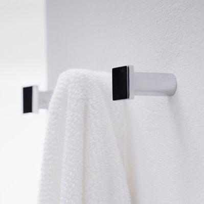 Appendiabiti da parete moderno / in metallo cromato / da bagno ...