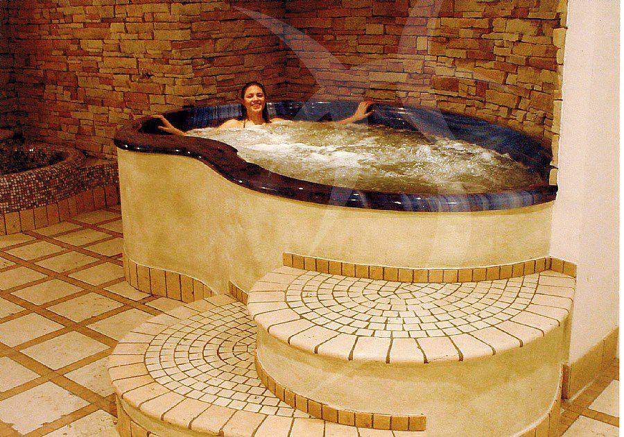 Vasca da bagno in acrilico / idromassaggio   happy sauna ...