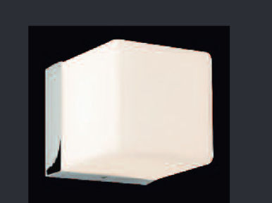 Applique moderna in vetro alogena quadrata loft bath lb