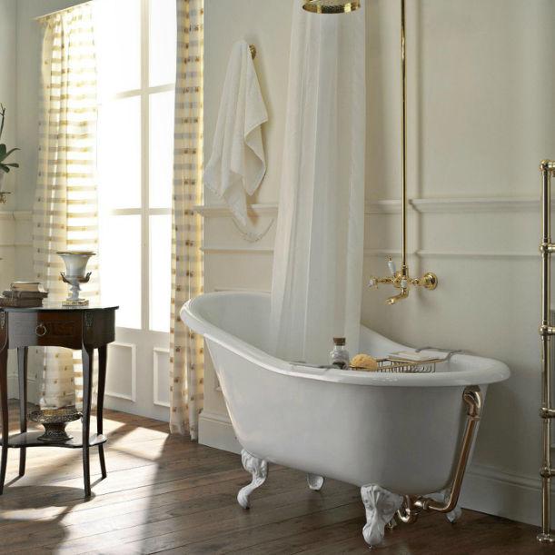 Vasca da bagno su piedistallo / ovale / in ghisa   balnea: 4002b ...