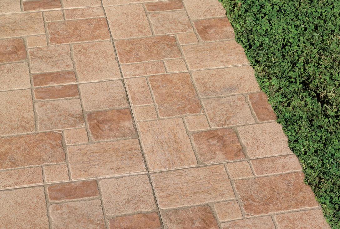 Piastrella da esterno per pavimento in gres porcellanato opaca